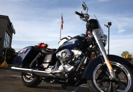 The Stars and Stripes, a McDonalds, and a Harley-Davidson - how much more American can you get? Photo; Zac Kurylyk