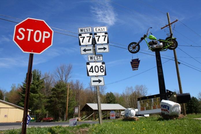 Roadside outside Spartansburg, PA. Photo: Zac Kurylyk