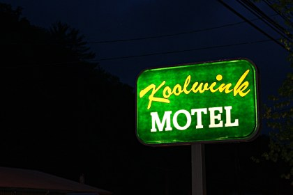 This sign spelt the end of Zac's rainy suffering, at least for one night. Photo: Zac Kurylyk