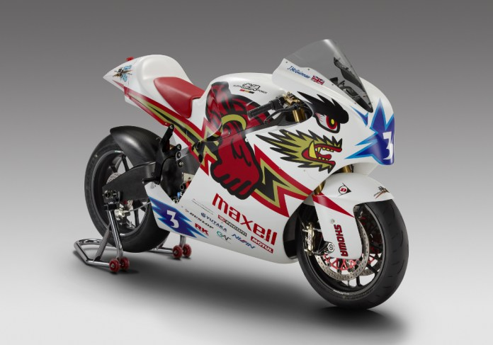 John McGuinness will race this electric bike from Mugen at the Isle of Man this year.