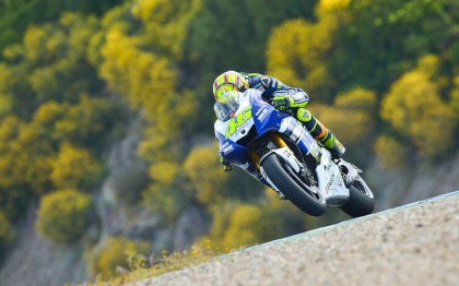 Rossi ended up in fourth. He's certainly seeing better results after leaving Ducati. Photo: MotoGP