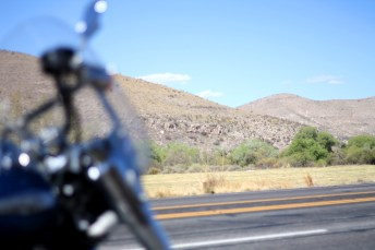 Leaving Roswell, Zac hit the Hondo area, with beautiful scenery and sweeping curves through the hills. Photo: Zac Kurylyk