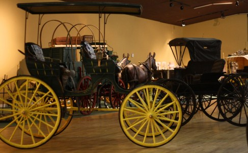 The Hubbard Museum has a large collection of buggies, carriages and wagons from the region's frontier days. Photo: Zac Kurylyk