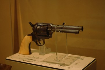 Billy the Kid's Colt .45 Peacemaker, in the Hubbard Museum. Photo: Zac Kurylyk