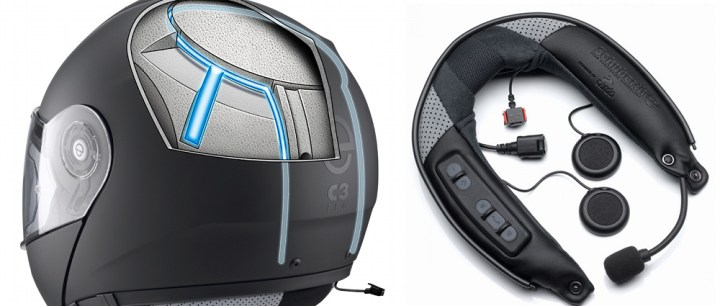 The Schuberth C3 Pro has an antenna built into its shell, to work in conjunction with the optional communications system.