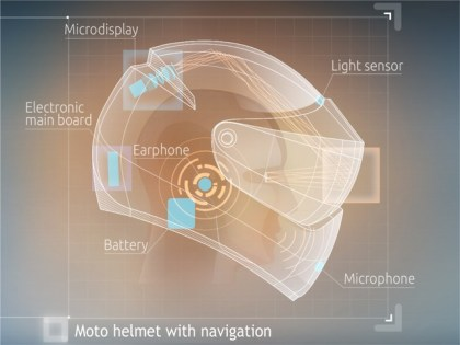 The team is designing a helmet to house all their technology.