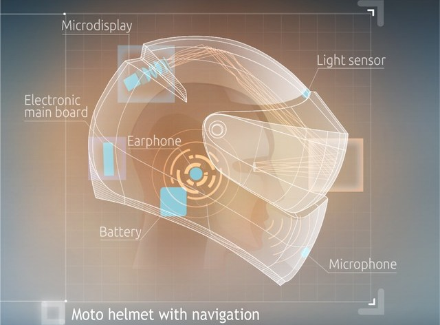 Inventors working on helmet with HUD