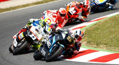 Moto2 acton wasn't as wild as usual. Series leader Scott Redding finished in fourth. Photo: MotoGP
