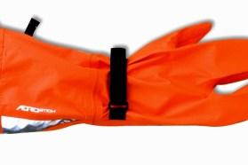 Aerostich orange glove covers