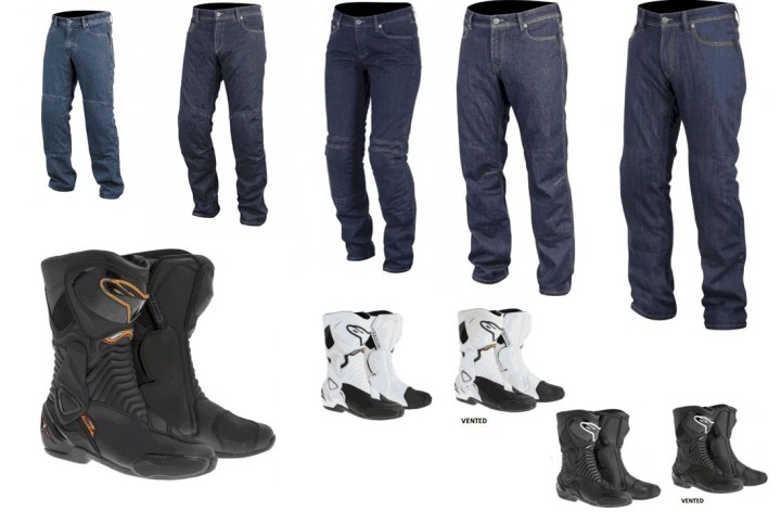 New boots, jeans from Alpinestars