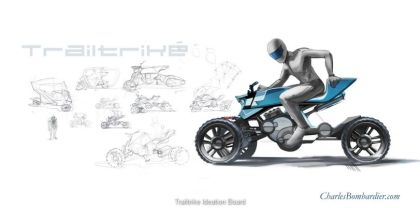 Bombardier would like to see a two-stroke motor powering his concept. Photo: CharlesBombardier.com