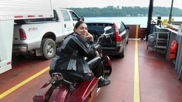 Enjoying the ferry ride to Prince Edward County.