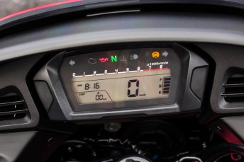 The gauges will be familiar to anyone who's ridden an NC700.