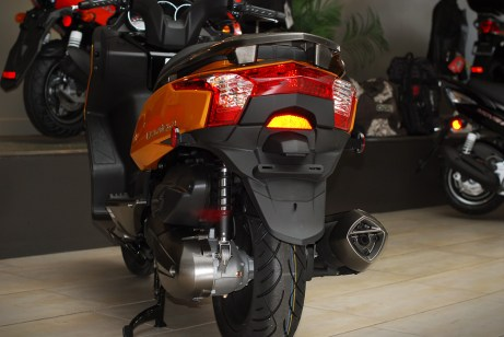 The four-stroke 299 cc motor has no problems hustling you along at highway speed. Photo: Kanishka Sonnadara