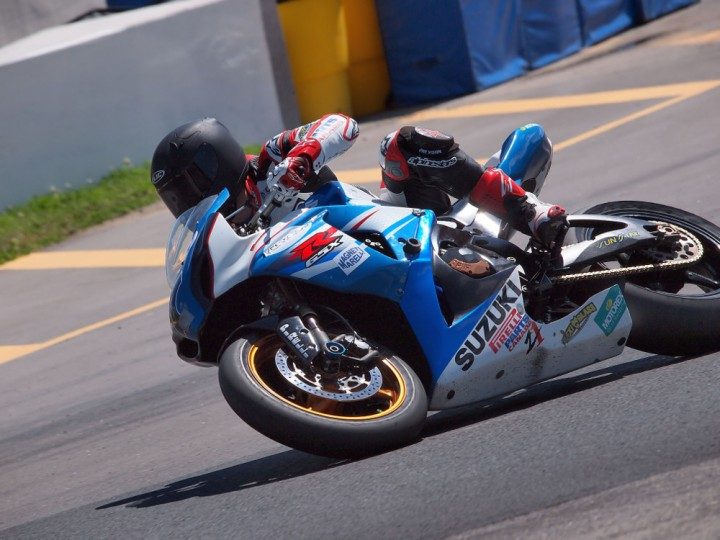 Alex Welsh finally got his CSBK victory he`s been gunning for all season. Photo: Rob MacLennan