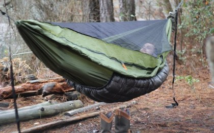 Instead of a sleeping bag, users will likely want to purchase an underquilt for cold weather. Photo: Black Scout Survival