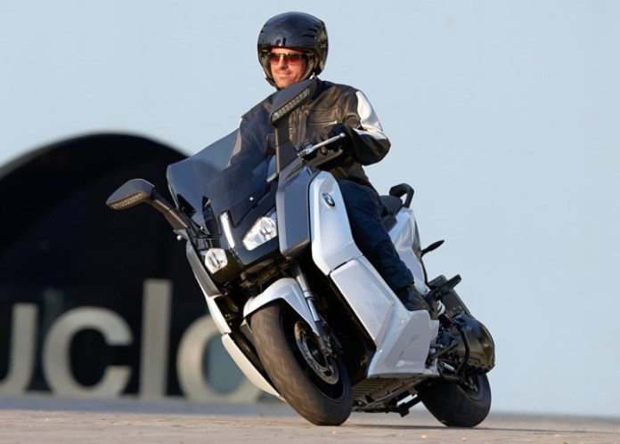 BMW says they figure machines like their new C Evolution electric scooter will enable them to continue to grow sales in the future.