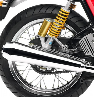 Psych! Those aren't Ohlins, they're actually gas shocks from Paioli.