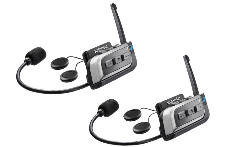 We picked up a pair of Scala Rider G9s in 2012 and have been testing the intercom systems when we tour together since then. We've also been monkeying around with the radio and MP3 options during solo rides.