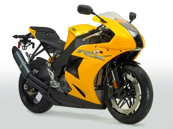 It's fast, it's yellow (or red, or black), and it's here: This is the Erik Buell Racing 1190RX.
