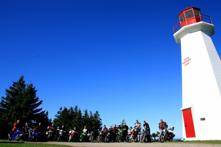 The crew at the Cape George lighthouse. Photo: Zac Kurylyk