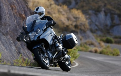 The R1200T gets BMW's new water-cooled boxer motor.