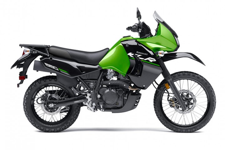 Here's the 2014 Kawasaki KLR650 New Edition. Visually, it's quite similar to the standard 2008-and-up model.