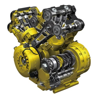 The new motor (all the new bits are in yellow).