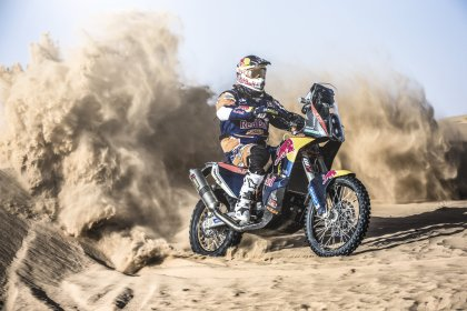 The Dakar rally is probably the toughest thing you can do on two wheels.