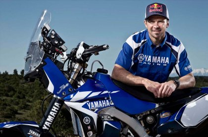 Cyril Despres is having a miserable year with Yamaha; he's so far back now that his chances at first are effectively nil, and even a podium finish could be a long shot. Photo: Yamaha