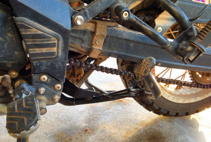 The centrestand made it easier to lube the chain and change tires, but added weight.