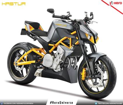 The new Hero Hastur 620 has the Transformers styling that's so popular in the naked bike scene these days.