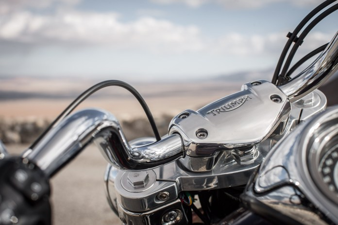 Chrome, chrome, chrome - there's no blacked-out version of these bikes yet.