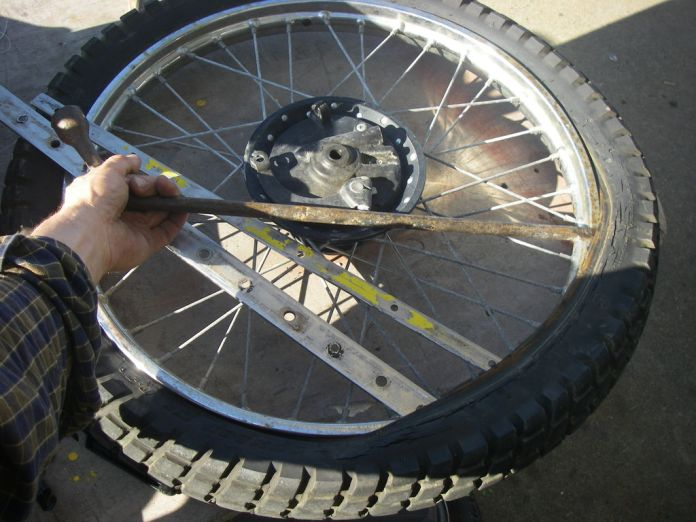 A flat tire? Seems like the police have been around. Photo: Instructables