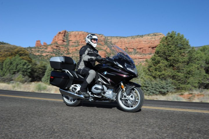 The machine has a lower seat and is also more narrow than the previous R1200 RT. Photo: Jon Beck