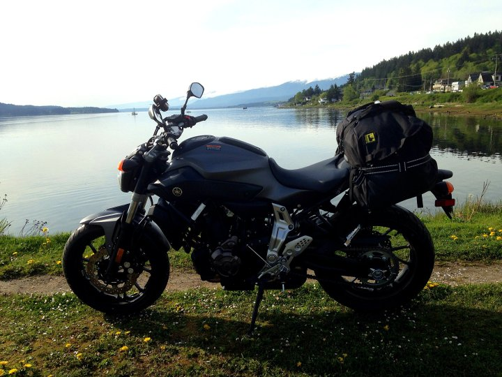 Rob started the trip with Yamaha's FZ-07 launch, then strapped on a Wolfman bag and headed off on his own. Photo: Rob Harris