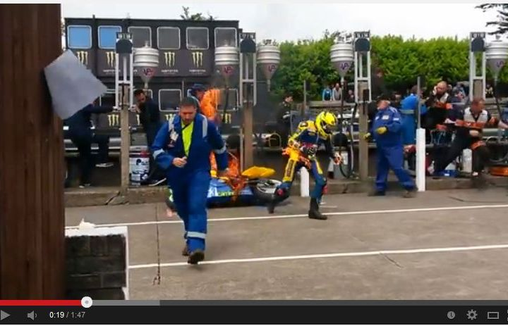 Video: Hot times at the Isle of Man