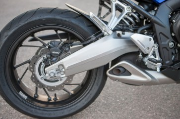 Honda didn't include linked brakes, but ABS is standard.
