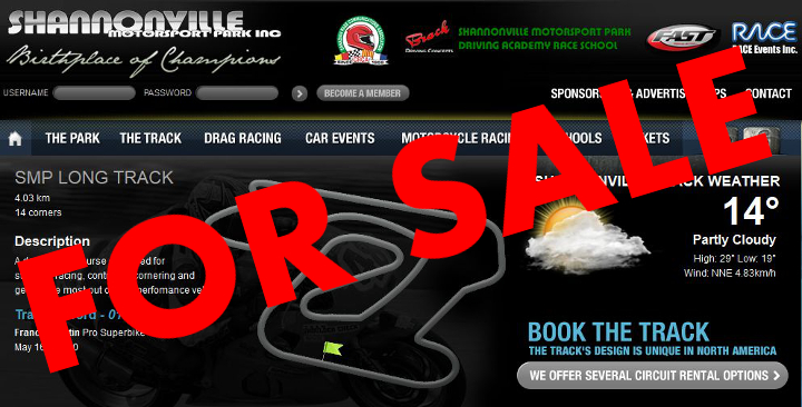 Hey Buddy – Wanna buy a racetrack?