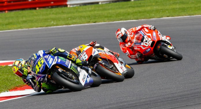Rossi's third was his first Silverstone podium.