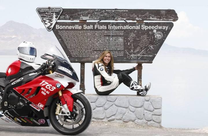 Valerie Thompson sets new record on the salt