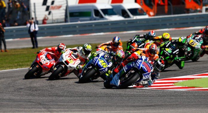 Lorenzo started at pole, but couldn't hold his lead.