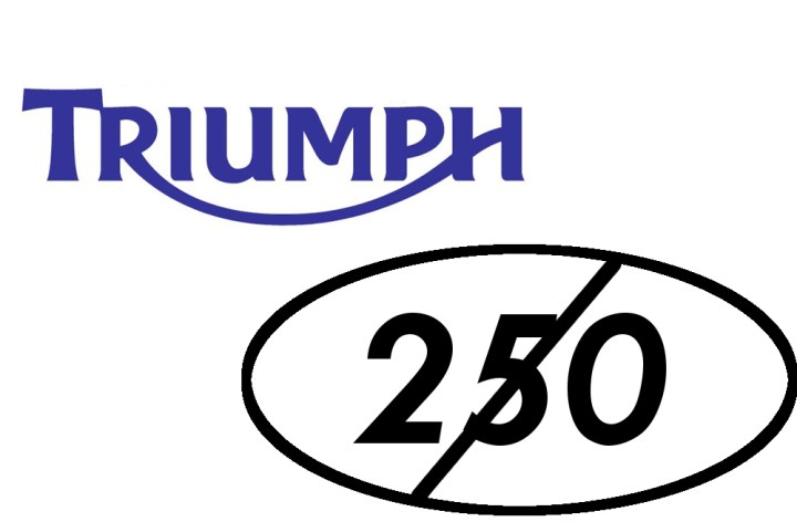 Triumph abandoning their plan to build 250s