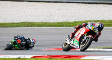 Stefan Bradl ended in fourth, one of his best results so far.