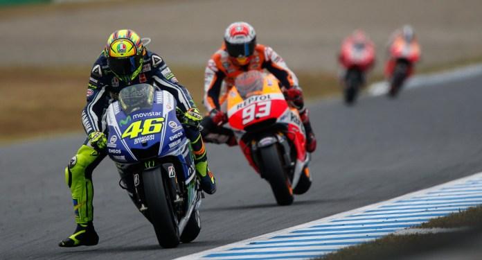 Marquez closes the gap on Rossi.