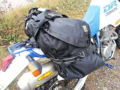 Riders with high exhaust pipes need to be careful about mounting the Beta bag too far back. An exhaust guard (like the excellent one from Giant Loop) is recommended; otherwise, keep the bag forward and use your extra rack space to strap on a dry bag.
