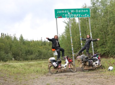 The start of the Dalton highway
