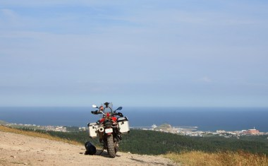 The view atop the largest hill in the islands. You'll need a dual sport or hiking boots to get here.