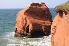The Magdalen Islands share similar sandstone formations to Prince Edward Island.