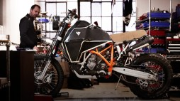 REV'IT has also been working on a customized adventure bike to promote their new gear line.